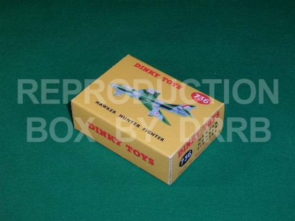 Dinky #736 Hawker Hunter Fighter - Reproduction Box